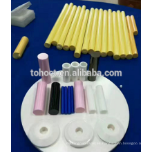 Rodillos de cerámica del aliso de la barra de la circona del azul amarillo rosado blanco negro alúmina de cerámica