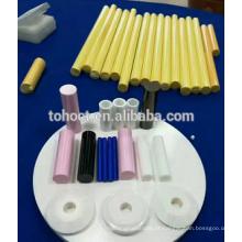 Preto branco rosa amarelo azul Zircônia cerâmica rolos de pino de haste de alumina cerâmica