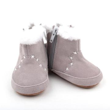 2018 Venta al por mayor Winter Plush Newborn Baby Half Boots