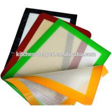Estera antiadherente más resistente de la fibra de vidrio del silicón resistente al calor