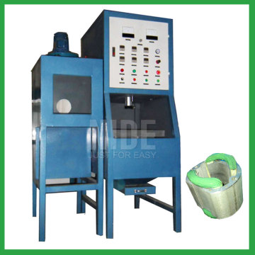 Stator electrostatic powder coating machine