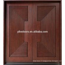 acajou porte intérieure bois de palissandre porte amusante lumière en bois de Diyar