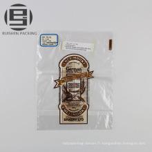 Le gâteau d'impression adapté aux besoins du client portent le sac en plastique d'emballage
