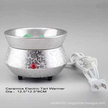 15CE23909 Silver Plated Electric Tart Burner