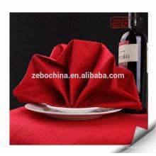 Directa Fábrica de lujo hecho al por mayor de algodón de la boda doblada servilleta de lino