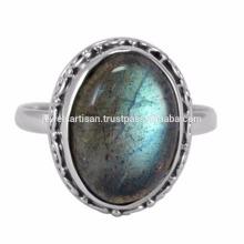 Designer Labradorit Edelstein 925 Sterling Silber Ring