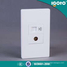American Style Electrical RJ45 Data and TV Double Socket Outlet