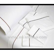 Stickerei weißen Bettlaken / Bettwäsche / Bettdecke