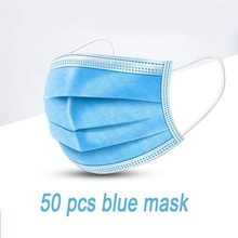 Masque chirurgical bleu confortable