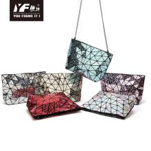 Bolsa de corrente geométrica em forma de gota de água para bolsa de maquiagem feminina