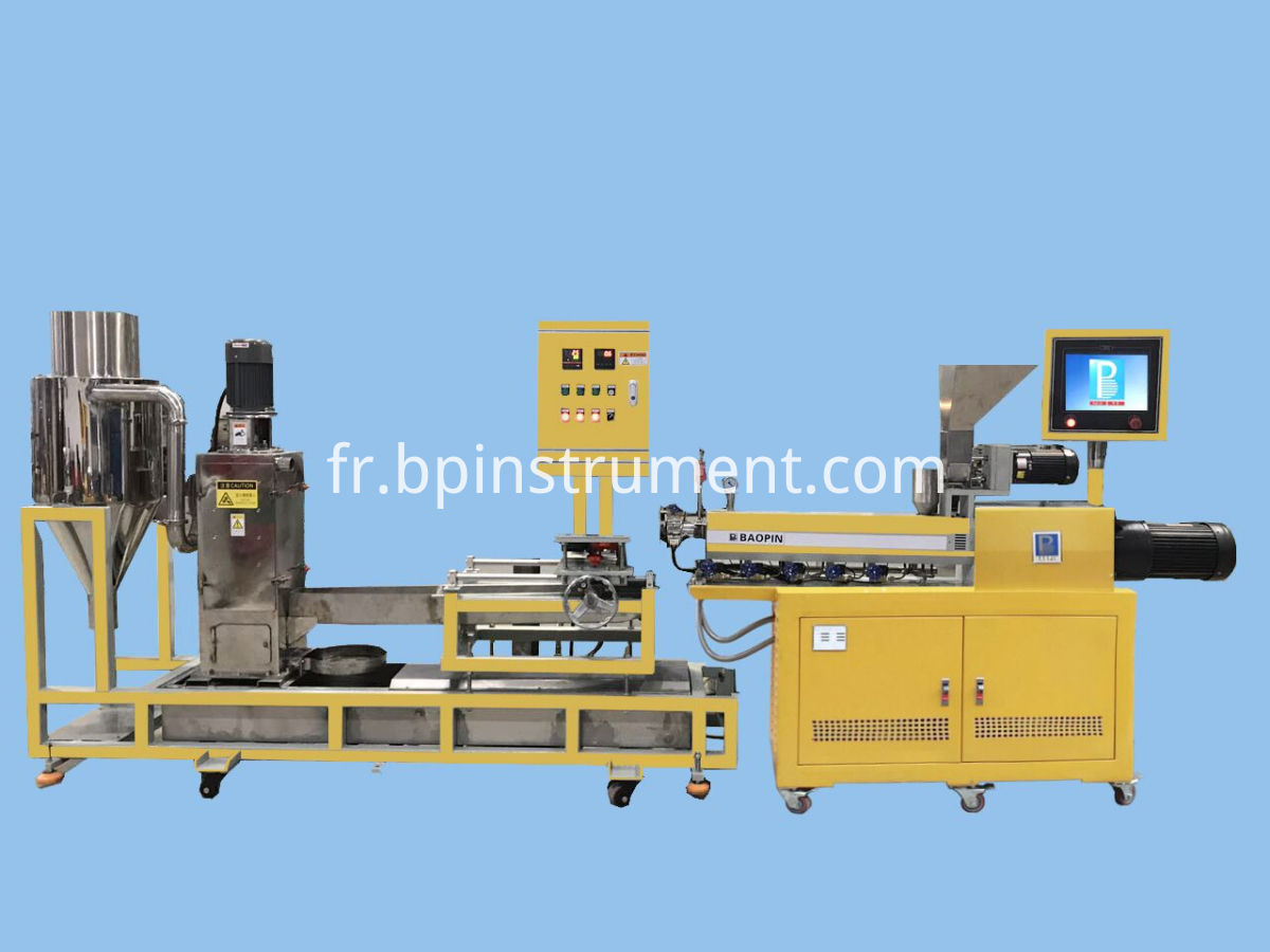 Lab twin screw extrusion water ring pelletizing linw
