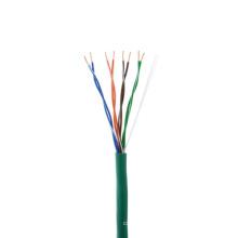 Passe o teste do fluke encalhou o cabo cat5e puro do cobre
