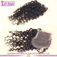 Top quality 6A brazilian hair closure 100% virgin hair kinky curly closure
