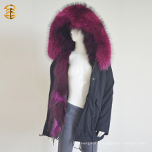 Prix de gros de l'usine Raccoon Fox Warm Parka Winter Fur Jacket
