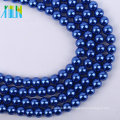 high quality 4 mm royalblue loose glass pearl strand DIY beads           XULIN Charm Glass Pearl Necklace Fashion Jewelry Pearl Beads