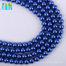 Alta calidad 4 mm royalblue perlas de vidrio sueltas de perla cuentas de bricolaje XULIN encanto perla de cristal collar de perlas de joyería de moda