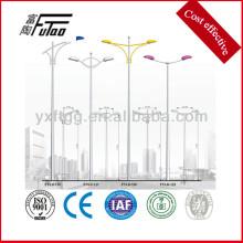 Hdg polo de lâmpada de braço duplo ou simples com suporte de braço