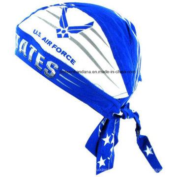 OEM Produce Customized Logo Printed Promotional Cotton Doo Rag Skull Cap Durag Bandana Head Wrap