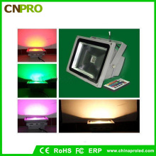 100W al aire libre RGB LED Floodlight con cambio de color impermeable luces de seguridad