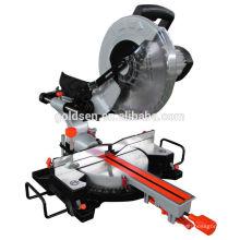 """Las últimas 305mm 12 """"1800w Larga Vida Portátil Madera Aluminio Cut-Off Saw Machine Motor De Inducción Electric Sliding Mitre Saw"""