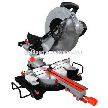 La plus récente machine de scie à découper en aluminium à bois longue longue durée de 305 mm de 12 po 1800w à moteur à induction à moteur à induction.