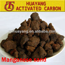 Arena de dióxido de manganeso de 3-5 mm para la purificación de la calidad del agua