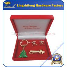 Conjunto de regalos de Navidad Decoración de metal de vacaciones
