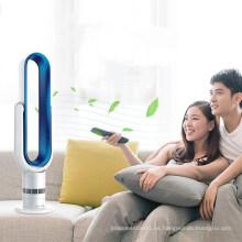 Pulsador de teclas LED Piso de 18 pulgadas Sin aspas Ventilador Refrigeración por aire LSF-018-6A Blanco Azul