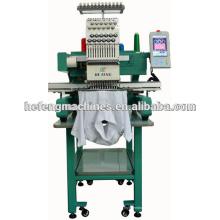 Máquina de bordar informatizada de cabeça única para cap & t-shirt