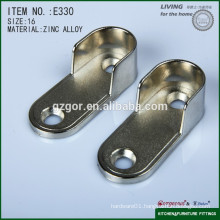 Hot sale nickel zinc alloy flat Furniture Tube Flange for wardrobe usage from Furniture