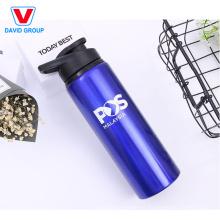 Bouteille d'eau en aluminium de logo fait sur commande de cadeaux promotionnels