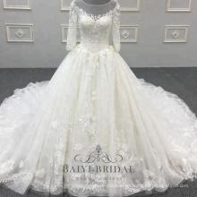 Brautkleid-Ballkleidhochzeitskleid-Luxuxreales Hochzeitskleid der neuen Ankunft schönen Frauen mit Gericht