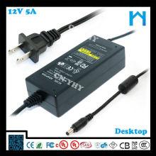 Alimentation fournie adpter ac / dc adaptateur ca cc 12V 5A UL CE GS SAA 60W