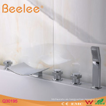 Grifo de baño de 5 orificios con ducha con mango de plástico