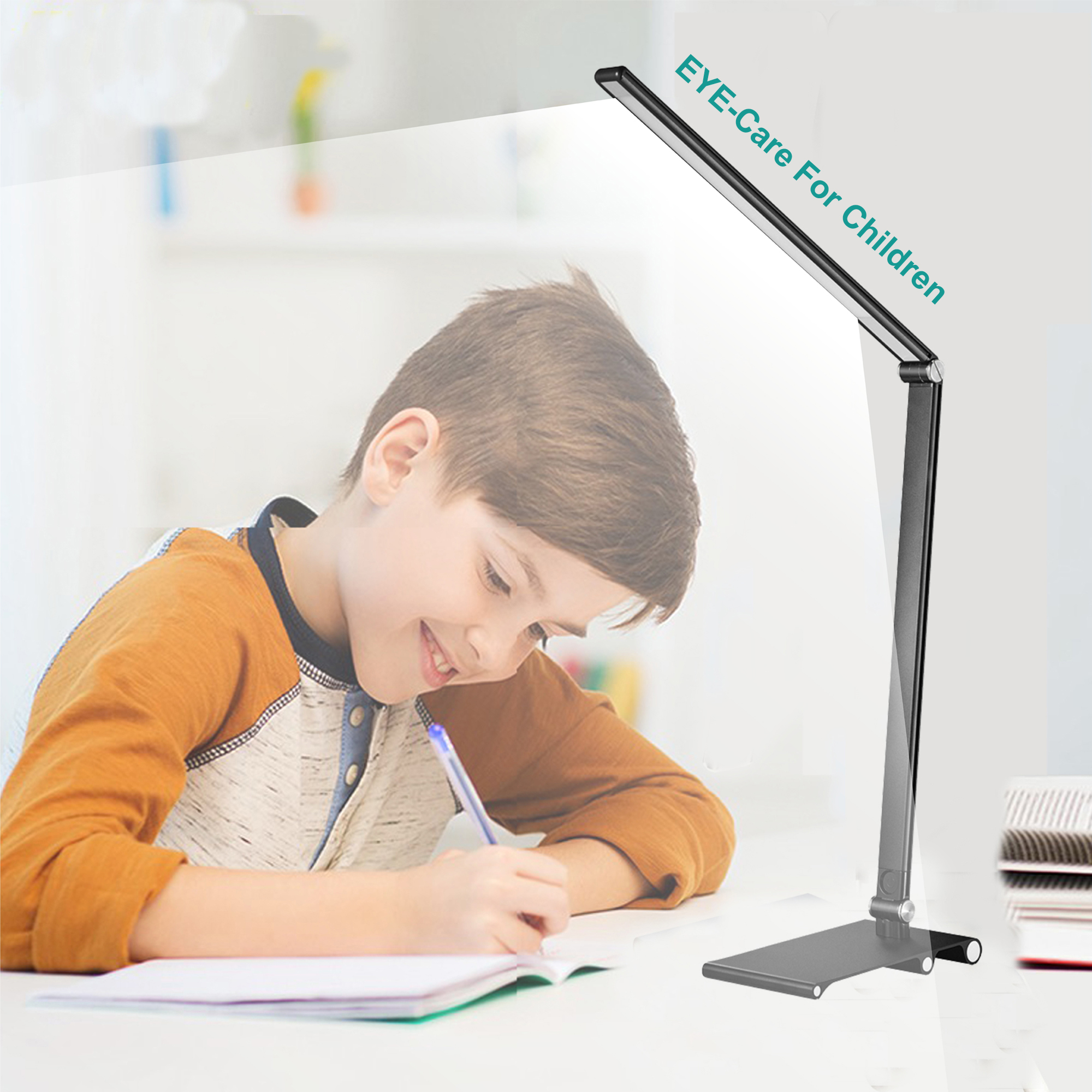 3 Brightness Full Aluminium Eye-Care Desk Lamp