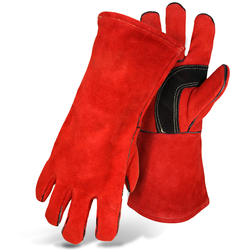 Strengthened Welding Heat Resistant Protective Leather Gloves