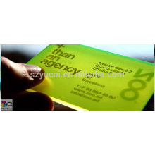 Hot Stamping clear visiting cards templates