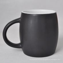 Caneca de café vitrificada fosca cerâmica