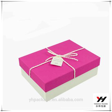 2018 Nouvelle boîte de cadeau de concepteur de papier personnalisé de conception