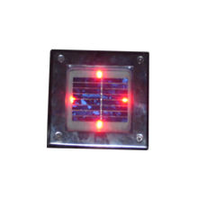 Outdoor Square Red Solar Led Garden Light With Rechargeable Batteries