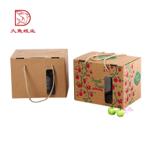 Custom logo popular corrugated paper package fruit gift box