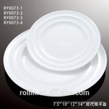 Ensemble de dîner en porcelaine fine en céramique super blanc avec design élégant