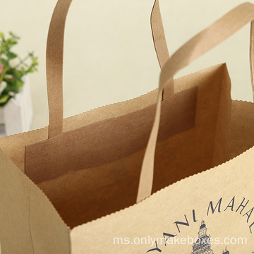 Hadiah buatan Kraft Paper Bags Gift Shopping Bag