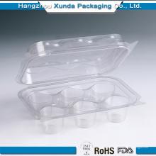 Embalaje de plástico transparente personalizado de la magdalena para la venta