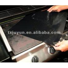 Feuilles à barbecue résistant à la chaleur au teflon noir