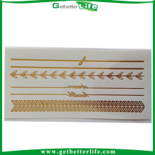 Getbetterlife foil metallic custom silver and gold tattoo sticker