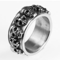 Perhiasan high-end punk retro cincin tengkorak stainless steel