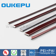 Index180,200 daul coating flat wire ,enamelled copper rectangular wire, enamelled rectangular aluminium wire