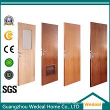 Porta de madeira composta moldada PVC do único / seis painéis do MDF