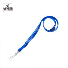 10mm Breite Fabrik geliefert Blau Polyester Lanyards für Promotion
